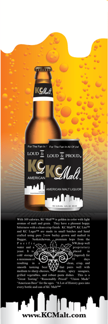 KC Malt Beer Card