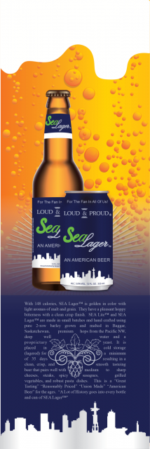 Seattle Lager Beer Card