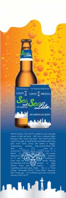 Seattle Lite Beer Card