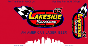 Lakeside Speedway Lager Label