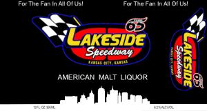 Lakeside Speedway Malt Label